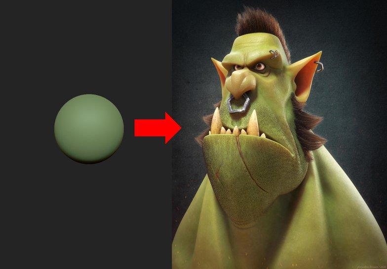 3d modeling ogre stylised character