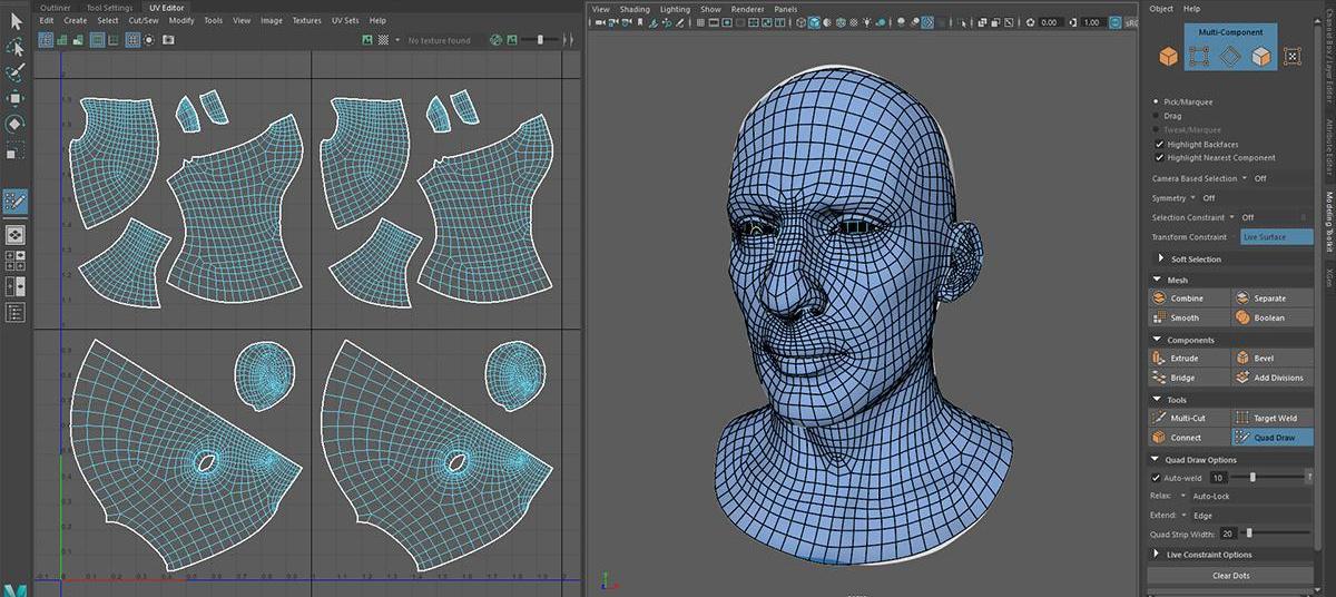 realistic portrait model