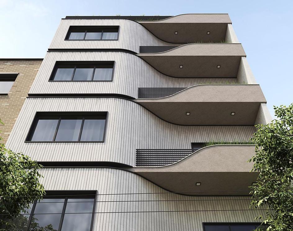 Minimal facade designby Hadi Rahimi