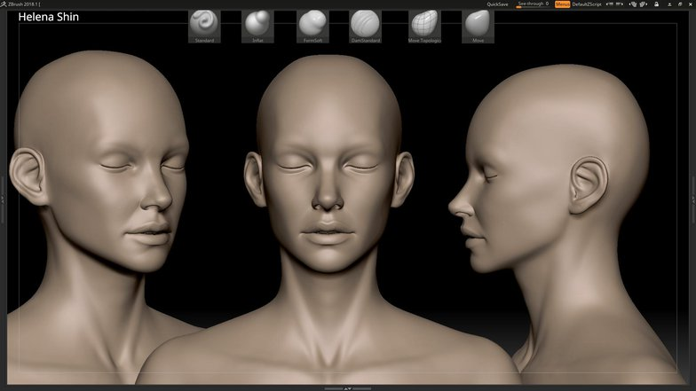 sculpting head