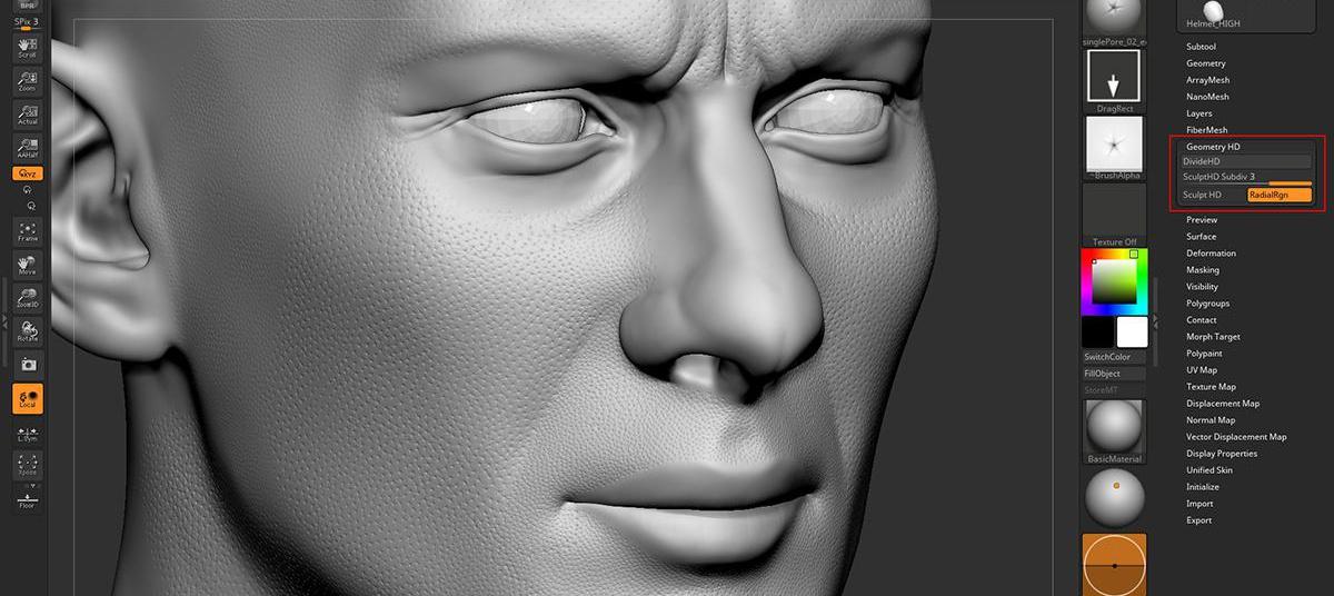 realistic portrait sculpting