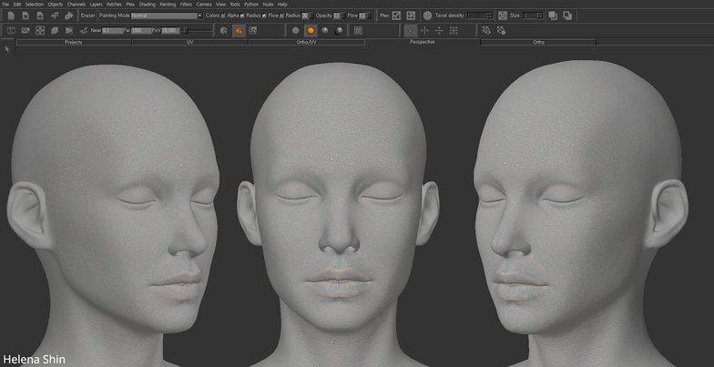 texturing model head