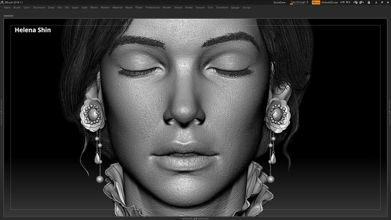 texturing model female head