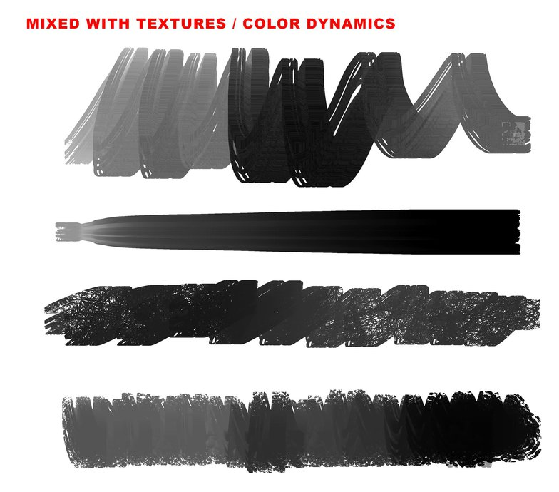 textures, color dynamics, brushes, photoshop, black and white,