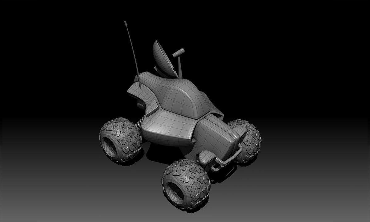 zvbrush modeling rendering basic vehicle rendering 3d