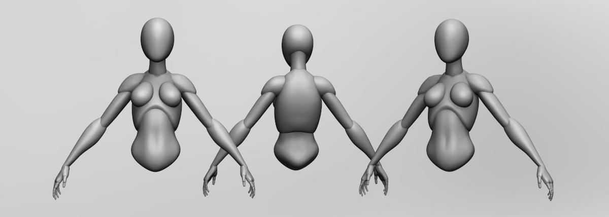 modelling 3d body shape render