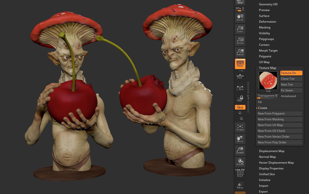 OBJ zbrush 3d modeling rendering creating character