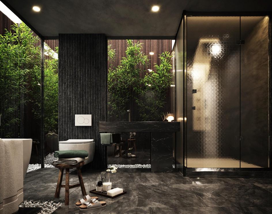 Dark bathroomby Rmy