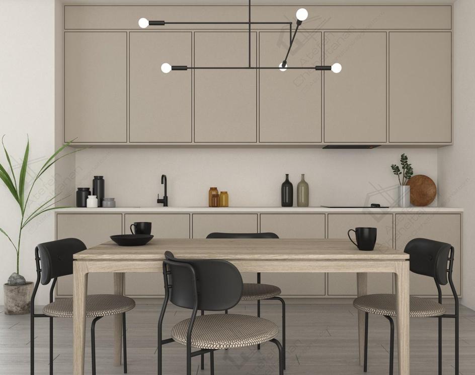 Neutral, Modern, Minimalist Kitchenby Atefeh Cheheltanan