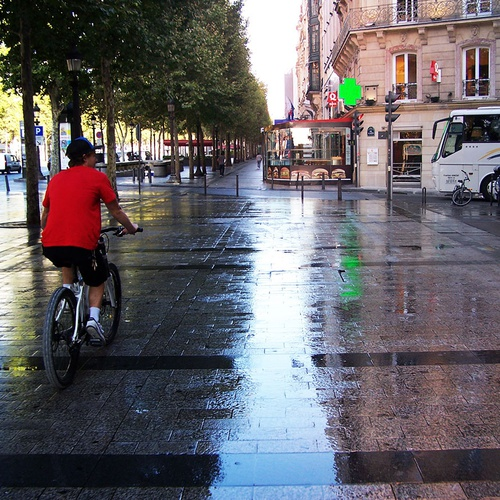 Person on a bike in Paris