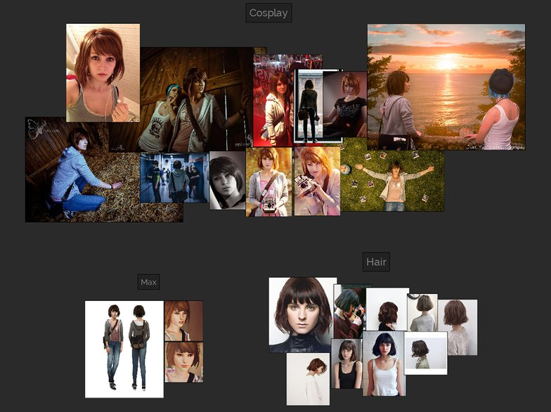 visual moodboard and research
