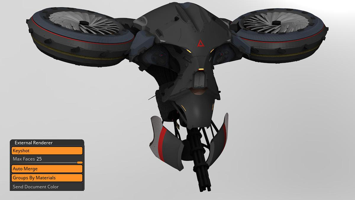 keyshot 3d wardrone
