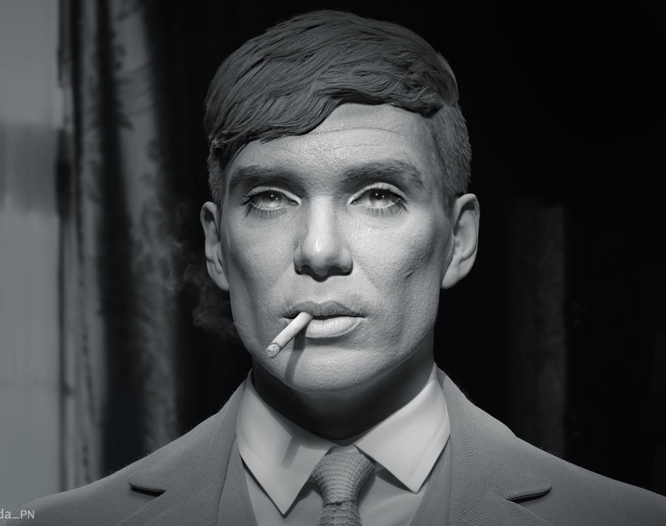 3D Portrait of Tommy Shelbyby Tida PN