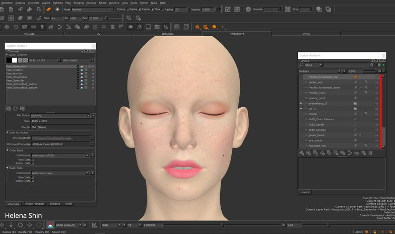 model female head