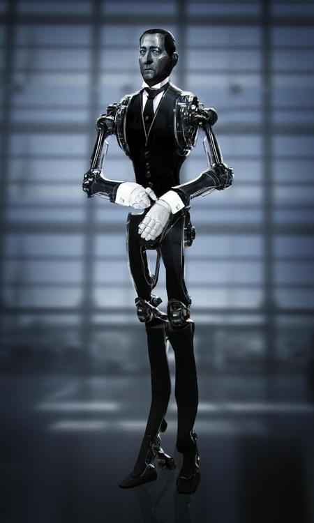 robot futuristic cyberpunk model 3d design