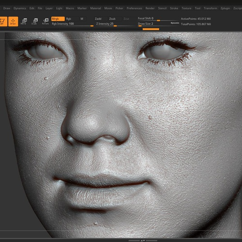 XYZ maps displacement layering zbrush model render
