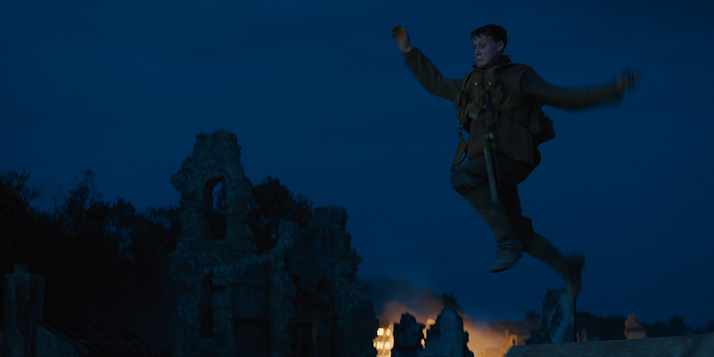 1917 night scene soldier escaping