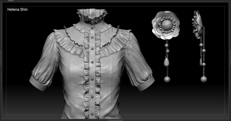 sculpting blouse on female body