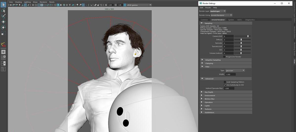 realistic portrait render