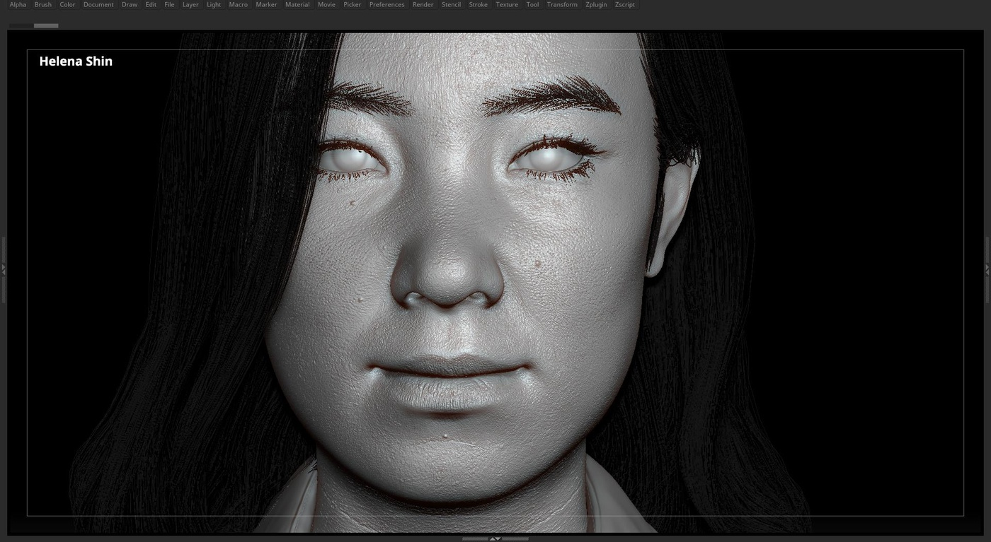 displacement maps zbrush face detailing