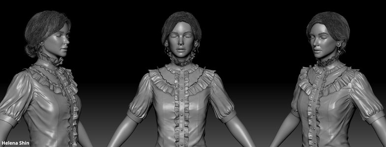 woman sculpted and modeled