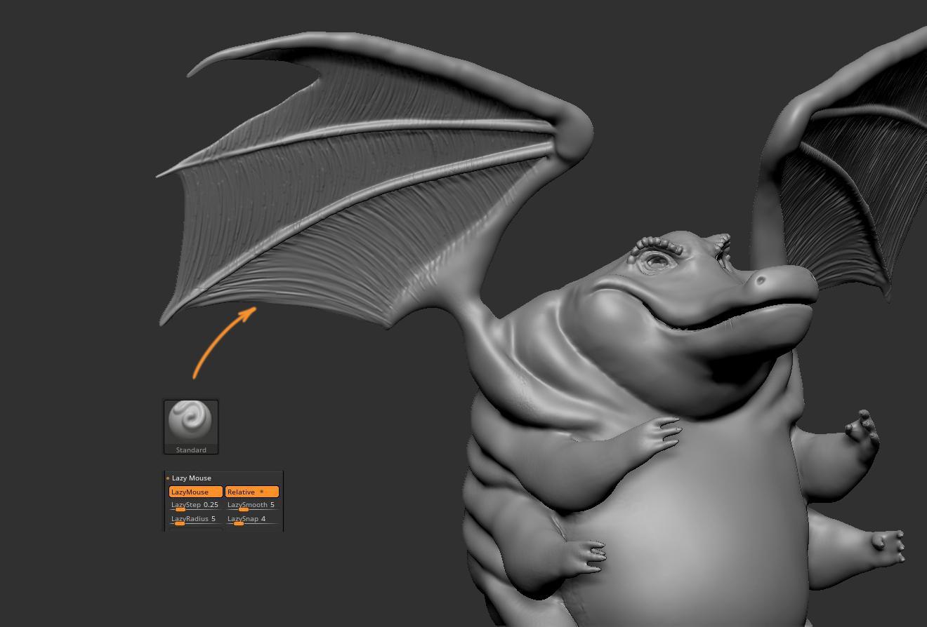 dragon crocodile wings 3d model