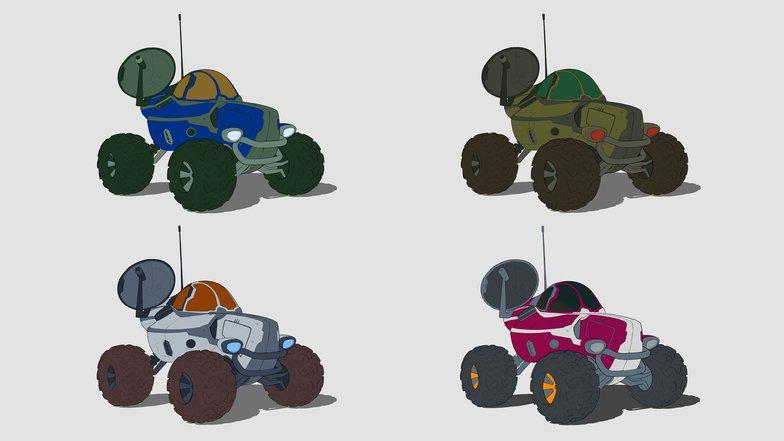 testing colour rendering modeling experimentation car sci-fi
