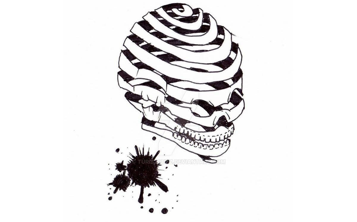 sketch illustration skull drawing deviantart 2d