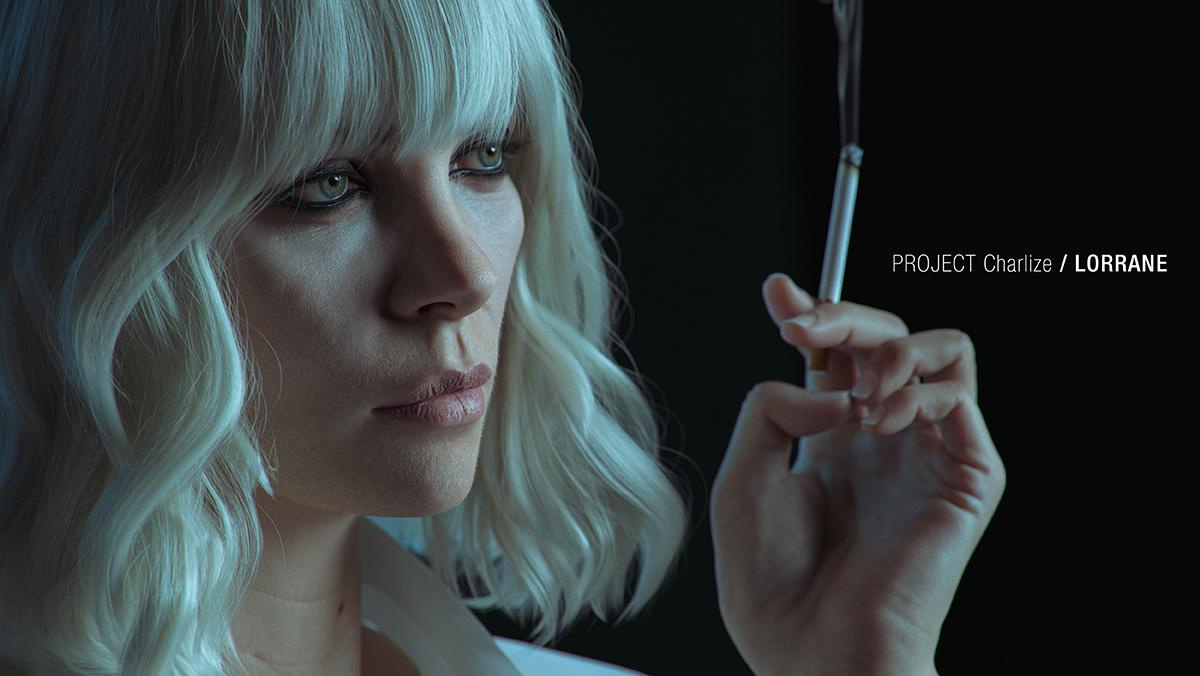 charlize theron with cigarette