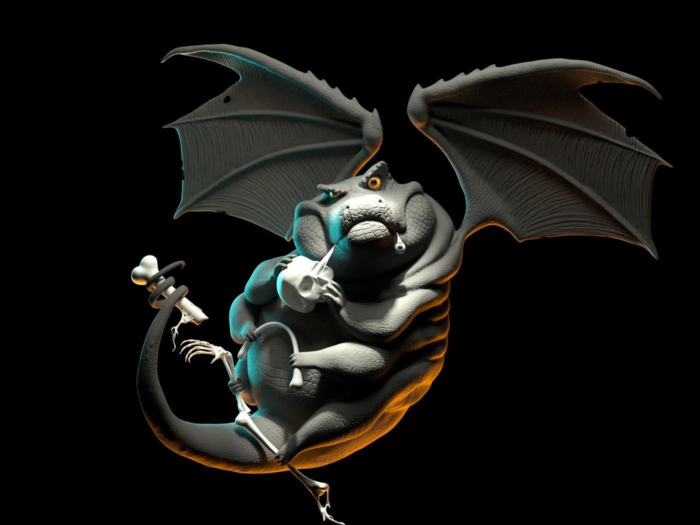 reptilian creature 3d model
