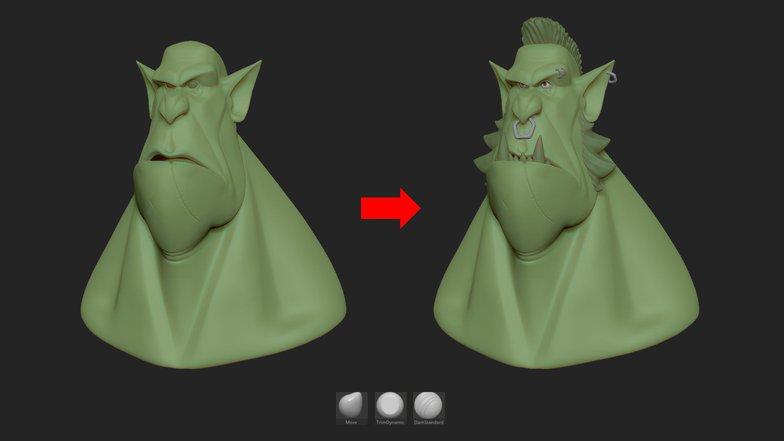 details elements 3d model