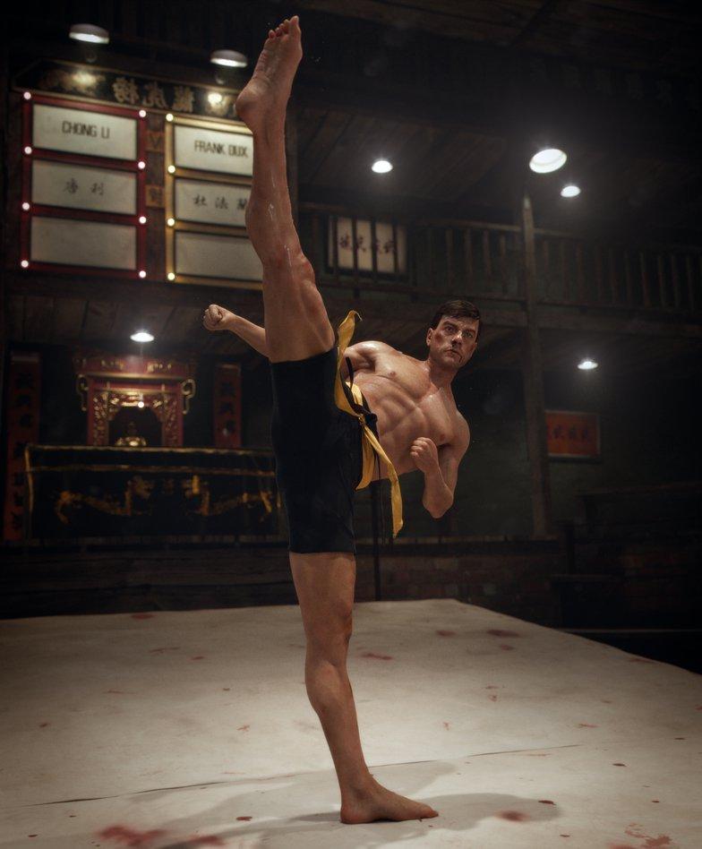 boxing Jean Claude Van Damme 3d model