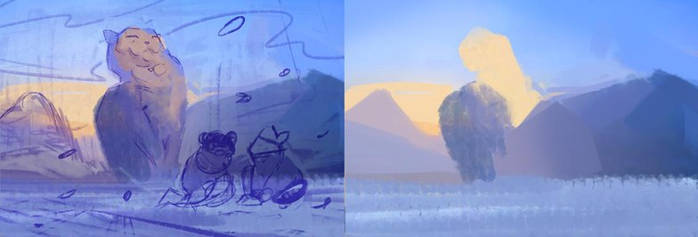 background scenery sketch digital
