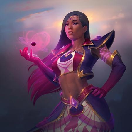 Asian female character 2d art
