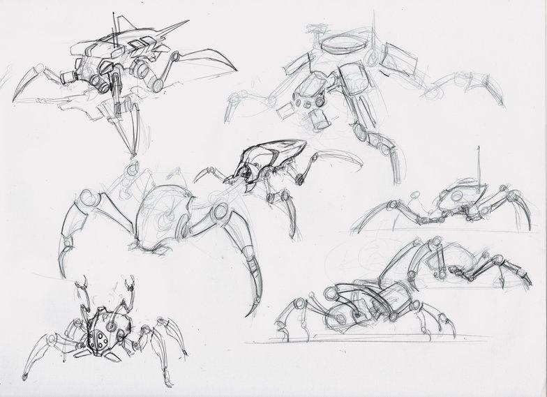 Quadruped robot quick sketches