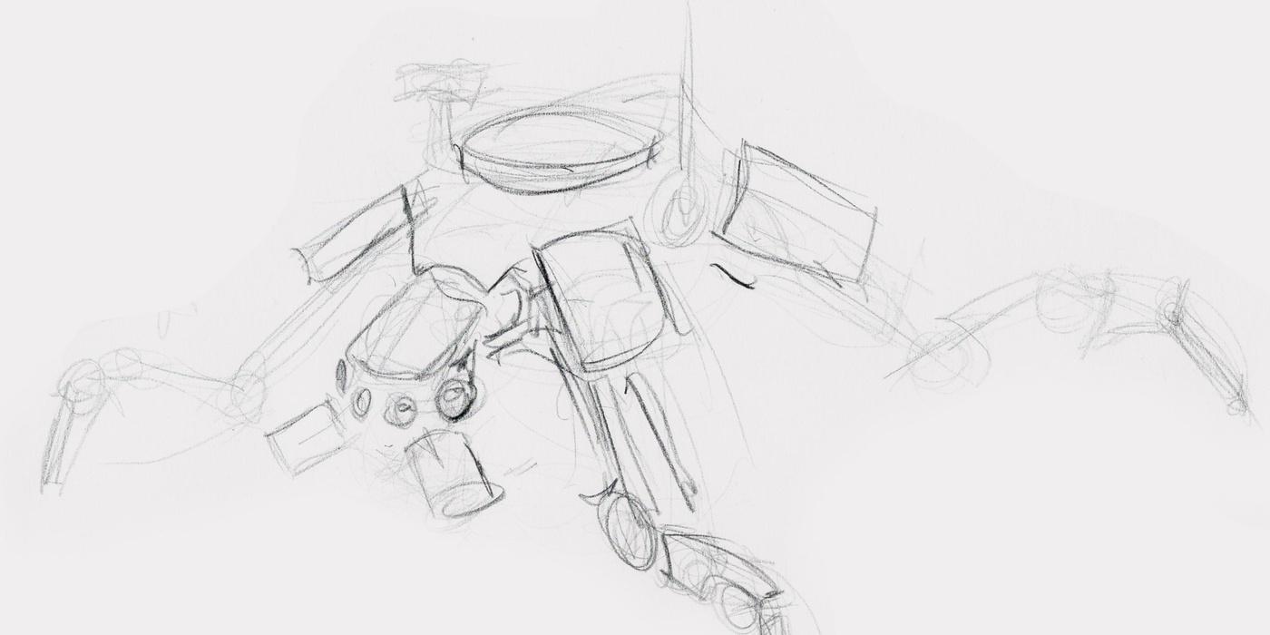 Quadruped robot sketch