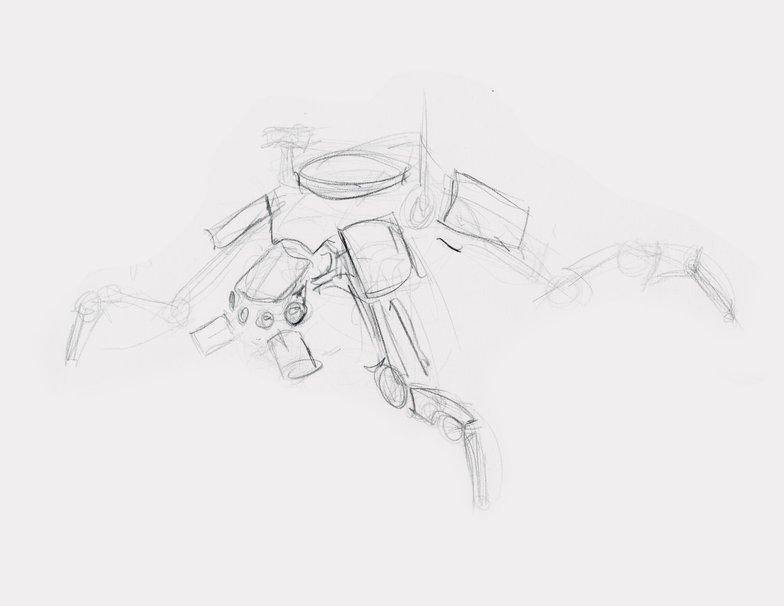 Quadruped robot development sketch
