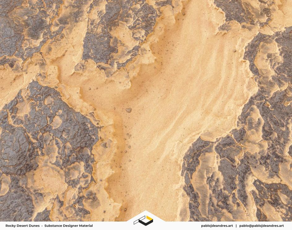 Rocky Desert Dunes - Substance Designer Materialby Pablo J. de Andrés