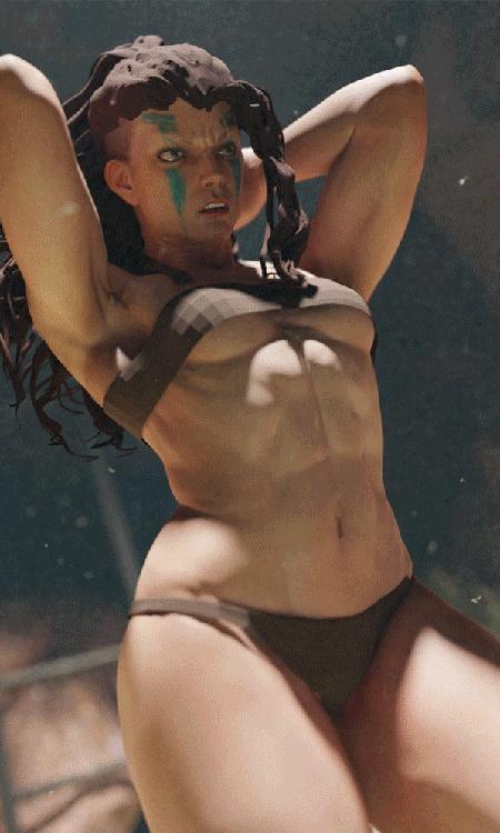 diablo 4 fanart inspired female character model battle sculpt