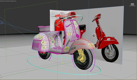 Underlying mesh used when modeling the mudguard