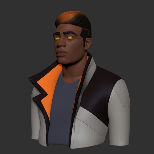 3d model male character detailing polypaint