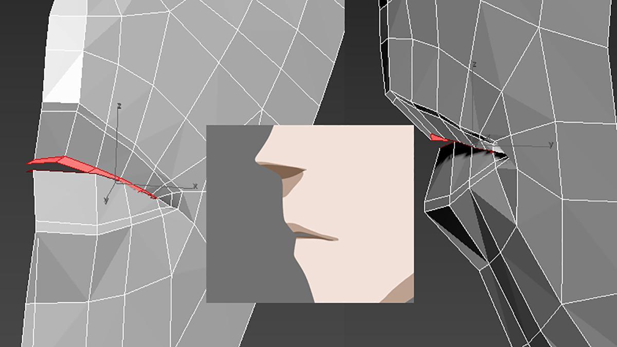mouth shape 3d anime design