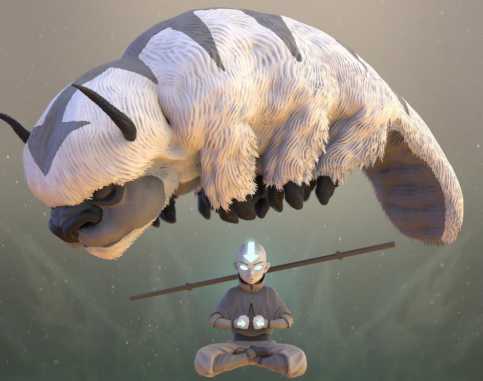 Avatar Aang. The Last Airbender.by S M Bonin