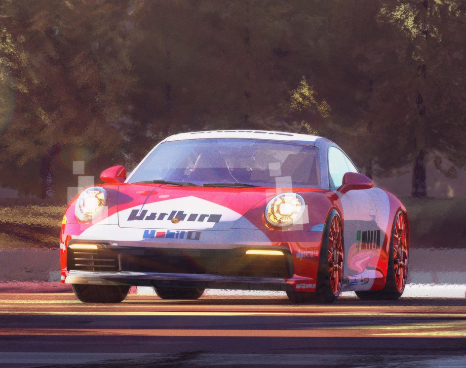 Porsche 911 racing illustrationby oldi