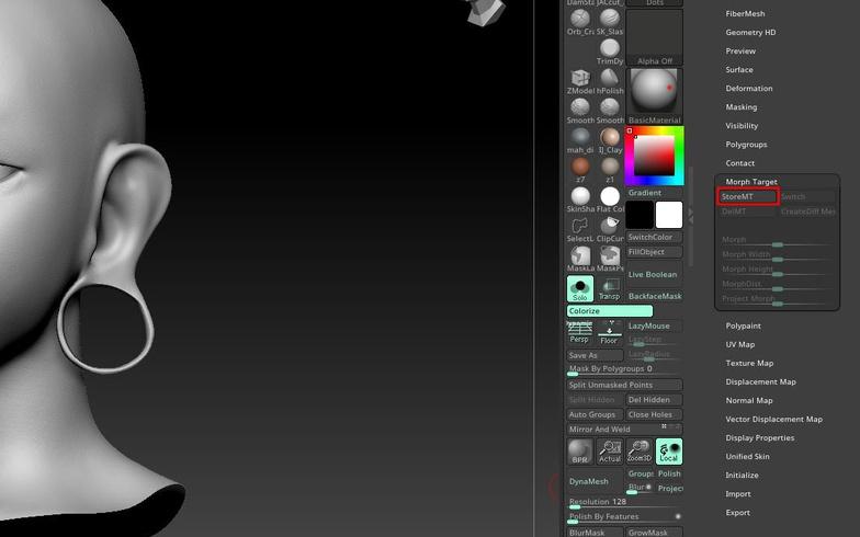 detailing specifics 3d model character design