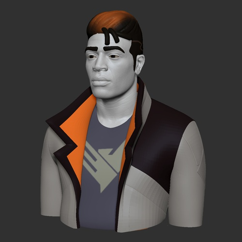 3d model male character detailing retopology
