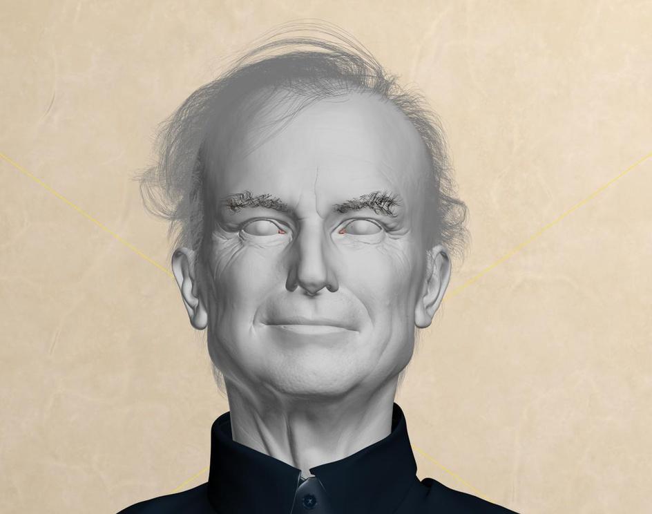 Richard Dawkins Portrait. Evolution Of The Eye.by Shcherbakov Roman