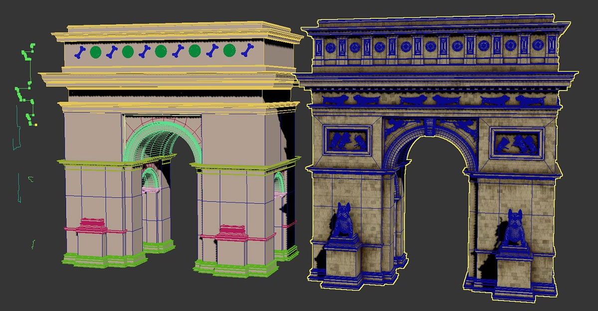 Arc de Triomphe model in 3ds max