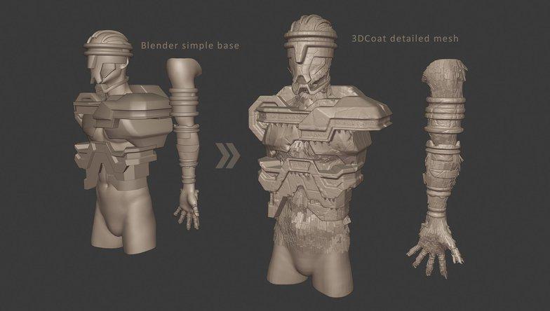 armor human mesh
