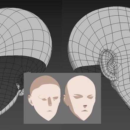 3d anime model shaping